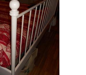 Struttura letto in ferro Ikea mod. Leivrik