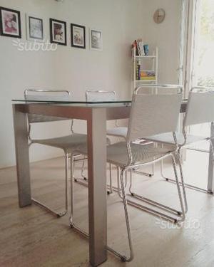 Tavolo allungabile Calligaris e 4 sedie