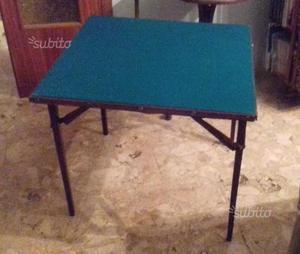 Tavolo da gioco vintage in legno richiudibile