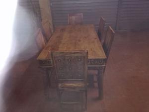Tavolo e 6 sedie legno massello