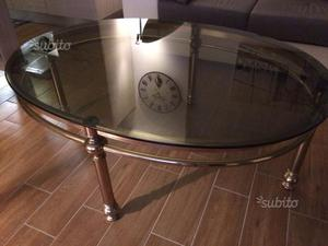 Tavolo ovale in cristallo e marmo bianco posot class - Tavolo ovale marmo bianco ...