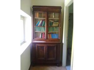 Antiquariato, libreria noce del' 800