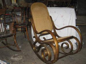 Sedia a dondolo thonet con seduta paglia vienna posot class - Dondolo con seduta ...