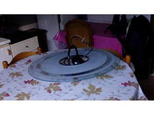 Lampadario a disco con vetro satinato
