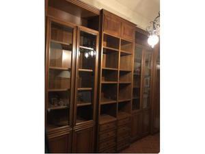 Libreria da parete in legno colore noce