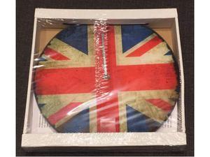 Orologio da Parete in Vetro Bandiera Inglese U.K. Flag -