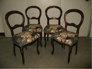 Quattro sedie usate in stile Luigi Filippo