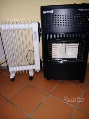 Stufa a gas e elettrica riscaldamento a olio