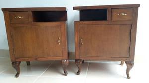 Coppia di comodini anni '50 originali in legno