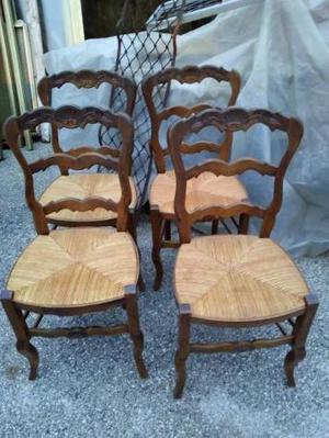 N. 4 sedie provenzali in rovere meta' 900