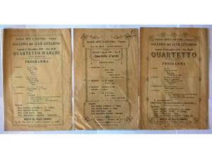 Storia locale Faenza Mappa, locandine concerti musica