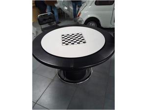 Tavolo da gioco anni 80 con 4 sedie imbottite