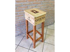 Sgabello cassette legno vini pregiati posot class