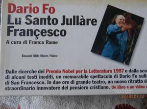 "Cofanetto ""Lo santo Jullare Francesco"" di Dario Fo"
