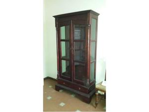 Armadio Credenza armadio 2 ante con vetri e 2 cassetti
