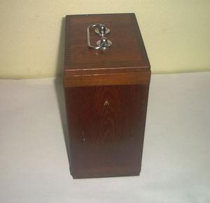 Custodia per microscopio in legno, vintage primi del 900