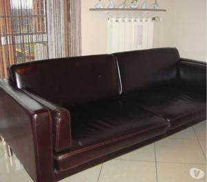 Vendo divano sater ikea crosta pelle marrone posot class - Divano profondita 75 ...