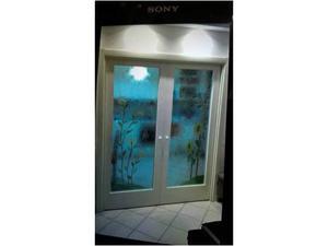 Doppia porta scrigno vetro e legno massello posot class - Porta scorrevole doppia ...