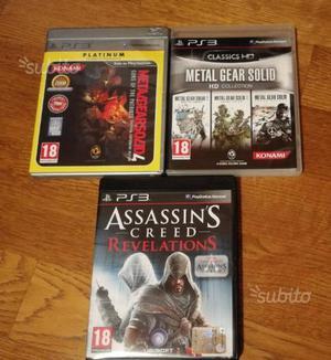 Giochi PS3 - Metal gear solid e Assassin's Creed
