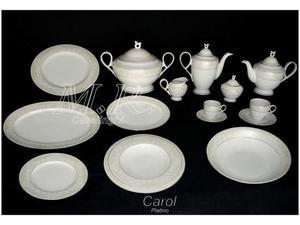 Piatti porcellana 100 pz. carol filo oro platino rosentable