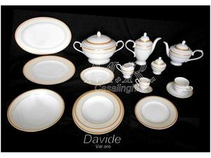 Piatti porcellana bone china davide oro platino rosentable