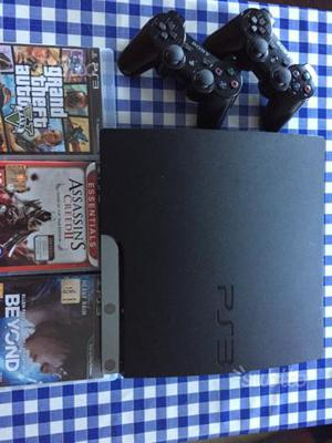 PlayStation gb con 2 Joystick e 3 giochi