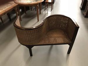 Sedia doppia in stile antico in legno massiccio