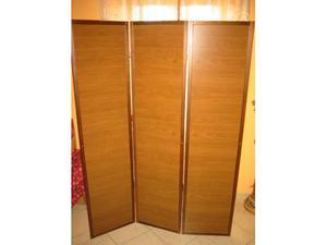 Separe' 3 elementi in legno - double face l 133 h 179