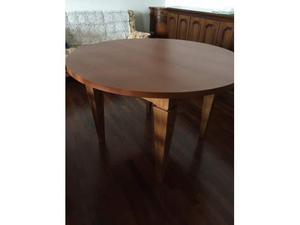 Tavolo rotondo in legno di cigliegio