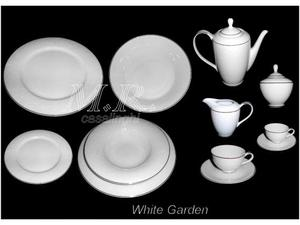 Tendenze piatti the caffe white garden porcellana bone china