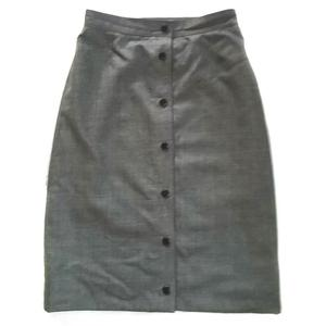 vintage gucci grey light wool skirt it 42