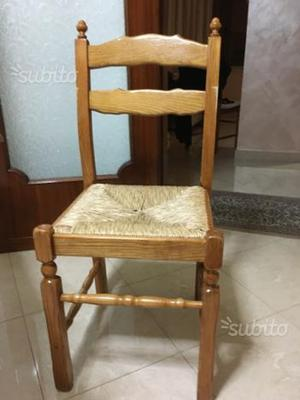 6 sedie in legno di rovere