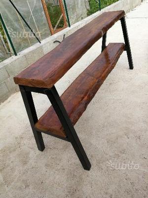 Consolle in legno massello da 6 cm