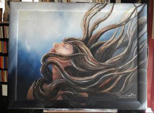 Dipinto su tela con cornice in legno