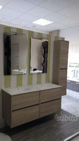 Bellissimo mobile bagno doppio lavabo con posot class for Vendo mobile bagno