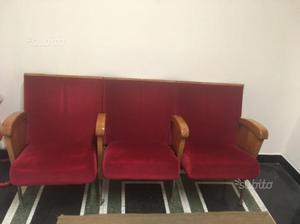 Vendesi poltrone sedie cinema posot class