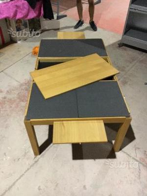 Tavolo basso da salotto in legno e grafite