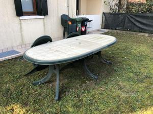 Tavolo da giardino 220x sedie