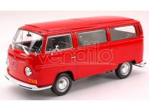 Welly WE VW T2 BUS  RED 1:24 Modellino