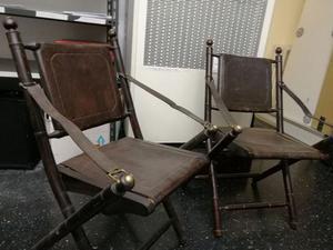Sedie vintage acciaio e pelle posot class - Tavolo cristallo rotto ...