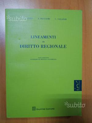 Libro Lineamenti di Diritto regionale