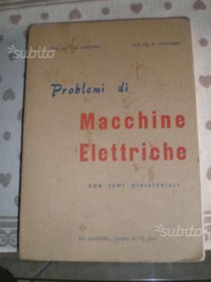 Problemi di macchine elettriche anni 70