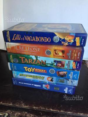6 vhs dei classici Disney