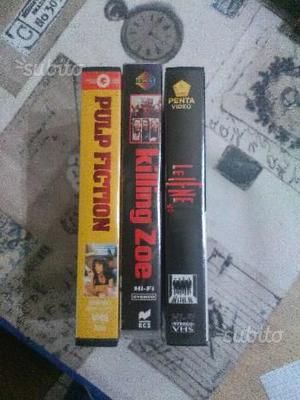Lotto 3 vhs quentin tarantino le iene pulp fiction