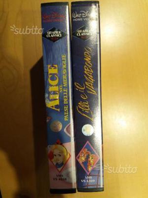 Cassette VHS I Grandi Classici Disney Bollino Nero