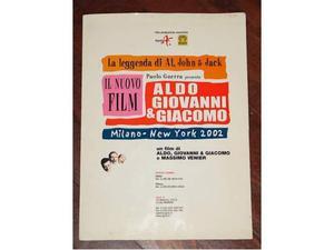 Brochure cinema Aldo Giovanni e Giacomo