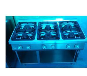 Cucina 6 fuochi professionale a gas su vano aperto posot for Cucina 6 fuochi professionale usata