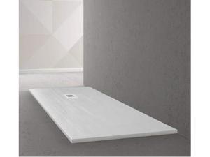 Piatto doccia 80x120 h.3 bianco marmo resina effetto legno