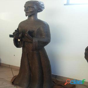Statua religiosa in bronzo massiccio antica