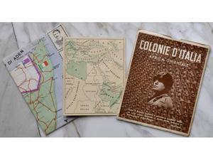 ⤽collana gloriosa - colonie italiane⤝ con mappe